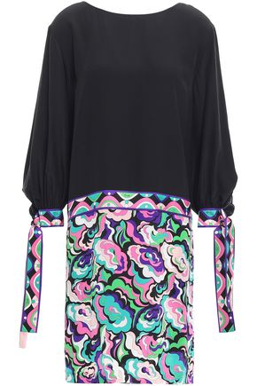 EMILIO PUCCI Printed silk crepe de chine mini dress