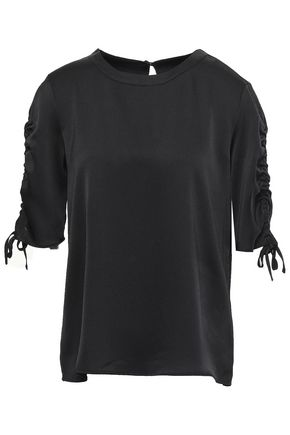 DKNY Hammered satin top