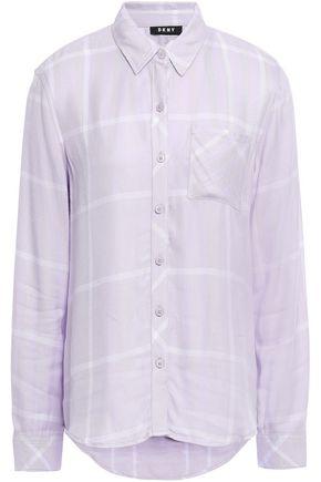 DKNY Checked twill shirt