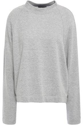 THEORY French cotton-blend terry sweatshirt