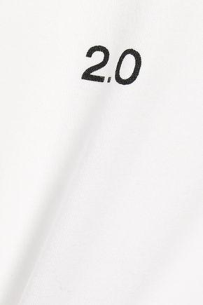 THEORY Printed cotton-jersey T-shirt