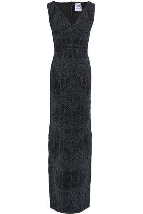 HERVÉ LÉGER Metallic bandage gown