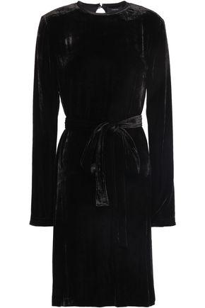 THEORY Belted velvet dress
