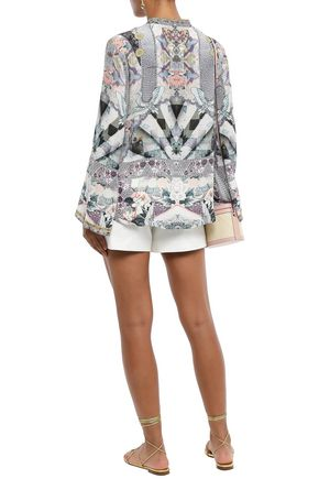 CAMILLA In Her Shoes embellished silk crepe de chine blouse