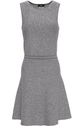 THEORY Flared marled ponte mini dress