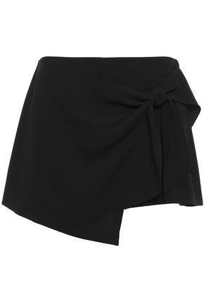 ALICE + OLIVIA Draped crepe shorts