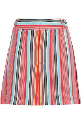 ALICE + OLIVIA Striped crepe shorts