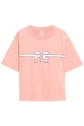 P.E NATION プリント コットンジャージー Tシャツ