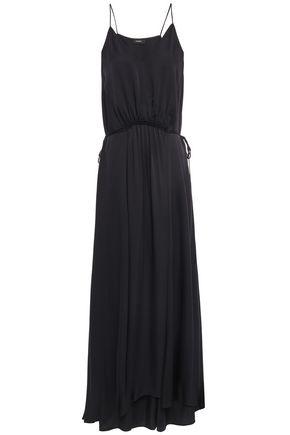 THEORY Gathered silk-crepe maxi dress