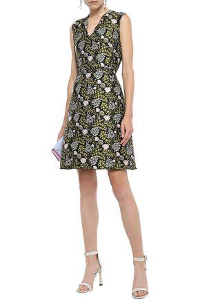 GIAMBATTISTA VALLI Floral-jacquard mini dress