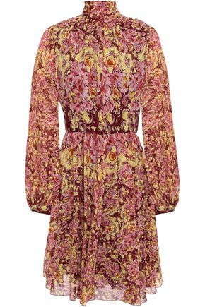 GIAMBATTISTA VALLI Tie-neck floral-print silk-georgette dress