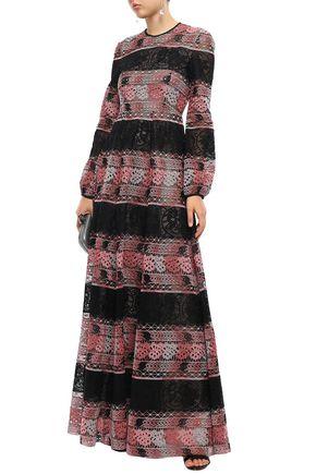 Giambattista Valli Woman Cotton-Blend Guipure Lace Gown Black