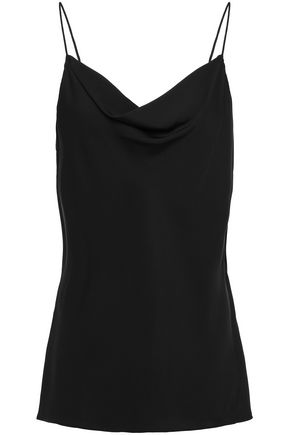 THEORY Wrap-effect silk crepe de chine camisole