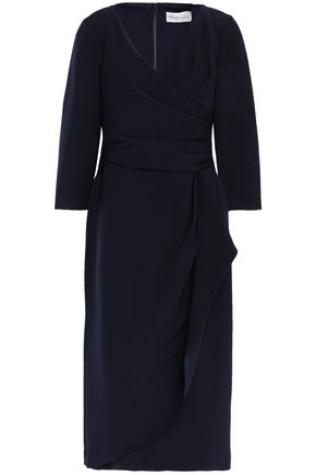 MIKAEL AGHAL Draped crepe dress