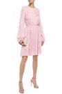 GIAMBATTISTA VALLI Ruffle-trimmed gathered crepe dress