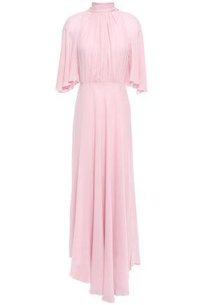 GIAMBATTISTA VALLI Pussy-bow gathered georgette maxi dress