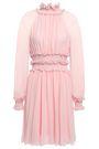 GIAMBATTISTA VALLI Ruffle-trimmed gathered silk-georgette mini dress