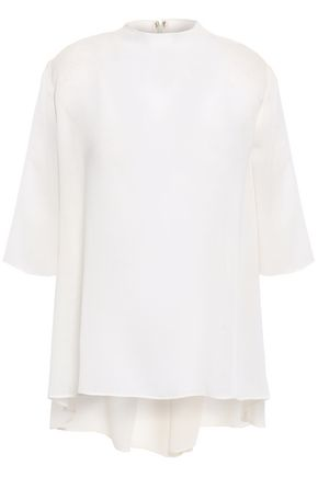 GIAMBATTISTA VALLI Wool-blend twill top