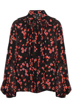GIAMBATTISTA VALLI Printed silk-chiffon blouse