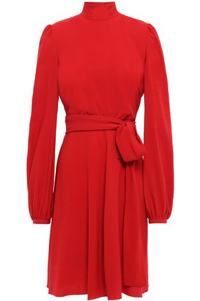 GIAMBATTISTA VALLI Belted gathered stretch-crepe dress