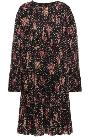 GIAMBATTISTA VALLI Pleated printed silk-voile mini dress