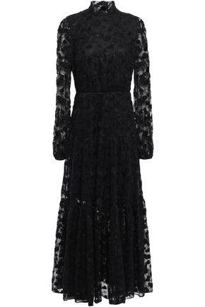 GIAMBATTISTA VALLI Embroidered cotton-blend Chantilly lace maxi dress