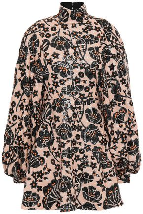 GIAMBATTISTA VALLI Flared sequined crepe mini dress