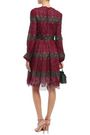 GIAMBATTISTA VALLI Flared striped guipure lace mini dress