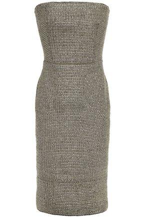 BLACK HALO EVE by LAUREL BERMAN Sasha strapless metallic crochet dress