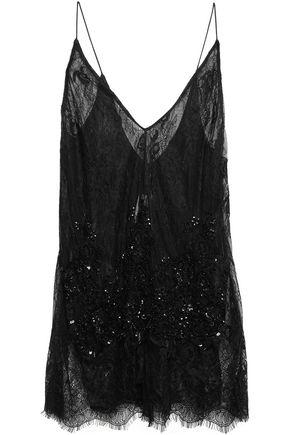 CAMILLA Layered embellished lace camisole