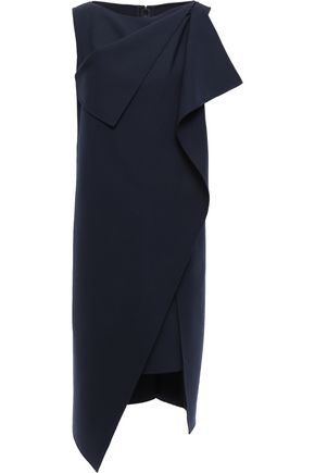 OSCAR DE LA RENTA Layered wool-blend dress