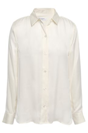 EQUIPMENT Leema washed silk-blend shirt