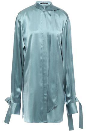 ROKH Open-back silk-satin blouse