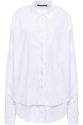 ROKH Layered cotton-poplin shirt