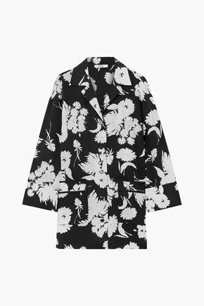 GANNI Kochhar floral-print silk-crepe shirt