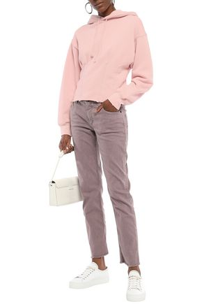 Current Elliott Current/Elliott Woman French Cotton-Terry Hoodie Pastel Pink