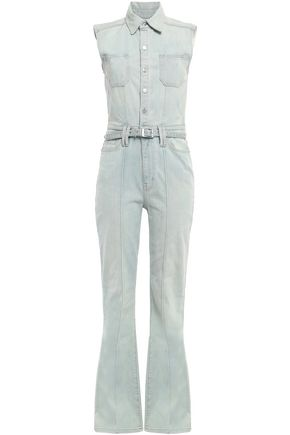 CURRENT/ELLIOTT The Zenith belted faded denim jumpsuit