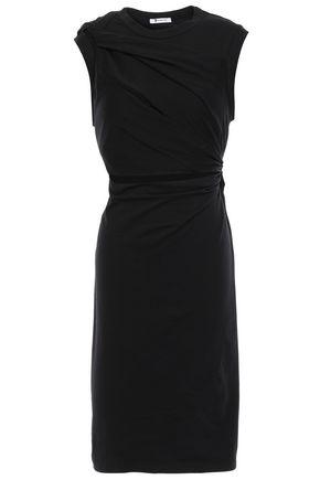 ALEXANDERWANG.T Twist-front cutout mélange cotton-blend jersey dress