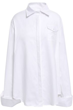 ANNA QUAN Luna convertible cotton-twill shirt