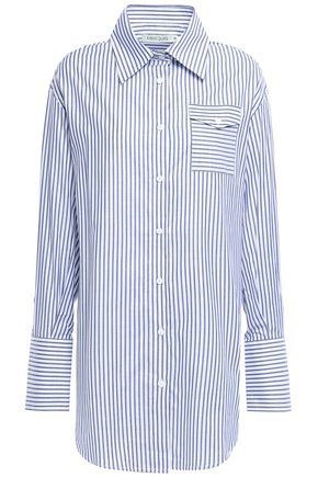 ANNA QUAN Striped cotton-jacquard shirt