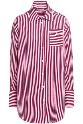ANNA QUAN Lesley striped cotton-poplin shirt