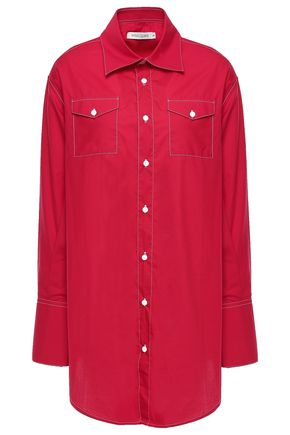 ANNA QUAN Ralph cotton-poplin shirt