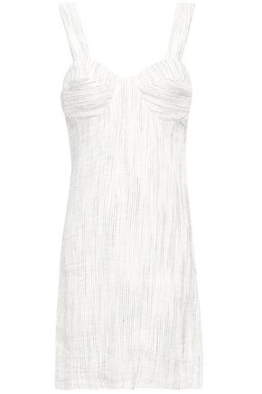 ANNA QUAN Linen-blend mini dress