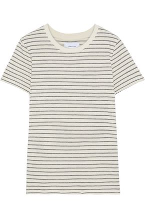 CURRENT/ELLIOTT The Retro Crew metallic striped cotton-blend T-shirt