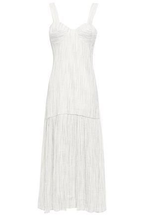 ANNA QUAN Lisa striped linen-blend midi dress