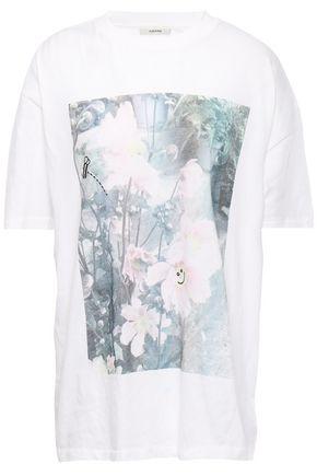 GANNI Davis printed cotton-jersey T-shirt