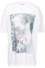 GANNI Davis oversized printed cotton-jersey T-shirt