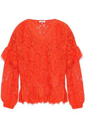 GANNI Jerome ruffled corded lace blouse