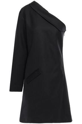 ANNA QUAN Juno one-shoulder twill mini dress