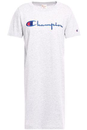 CHAMPION Logo-embellished cotton-blend jersey T-shirt
